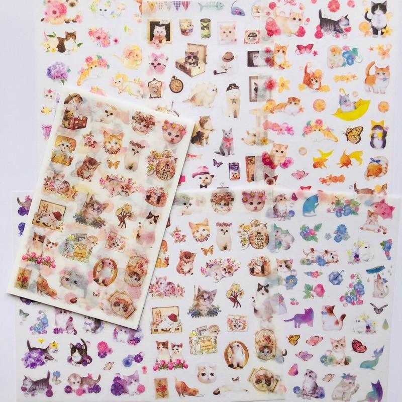 6 Sheets Lovely Meow Cat Kitten World Decorative Stickers DIY Craft Scrapbooking Sticker