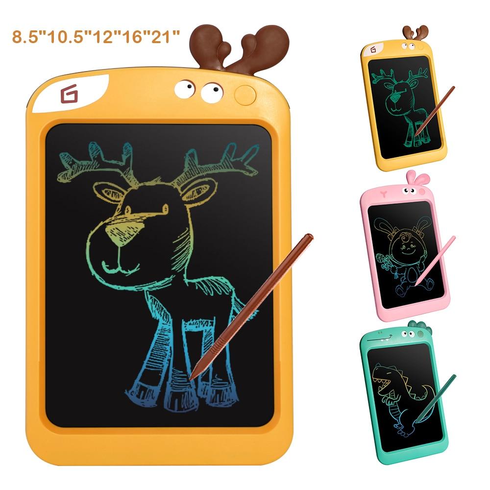 Мультяшный детский ЖК-планшет для письма, Детские блокноты для рукописного ввода, дошкольные электронные цифровые доски для рисования для ...
