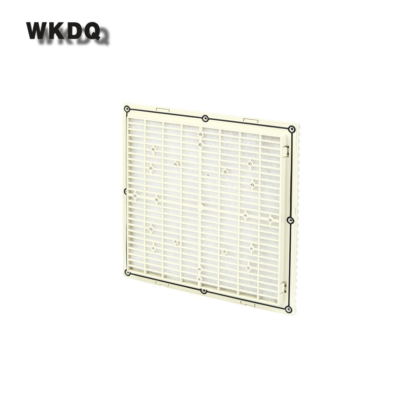 FK-9806-300 Cabinet  Ventilation Filter Set Shutters Cover  Fan Waterproof Grille Louvers Blower Exhaust Filter Without Fan