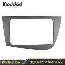 Double Din Radio Frame for Seat Leon 2005 2012 Head Unit Fascia GPS Navigation Stereo Panel Dash Mount Kit