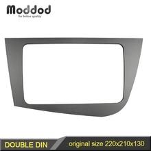 Dubbel Din Radio Frame Voor Seat Leon 2005 2012 Head Unit Fascia Gps Navigatie Stereo Panel Dash Mount Kit