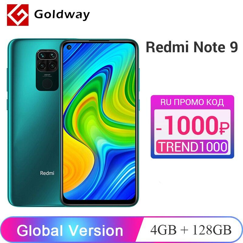 "Global Version Xiaomi Redmi Note 9 4GB 128GB Smartphone Helio G85 Octa Core 48MP Quad Rear Camera 6.53"" DotDisplay 5020mAh(Hong Kong,China)"