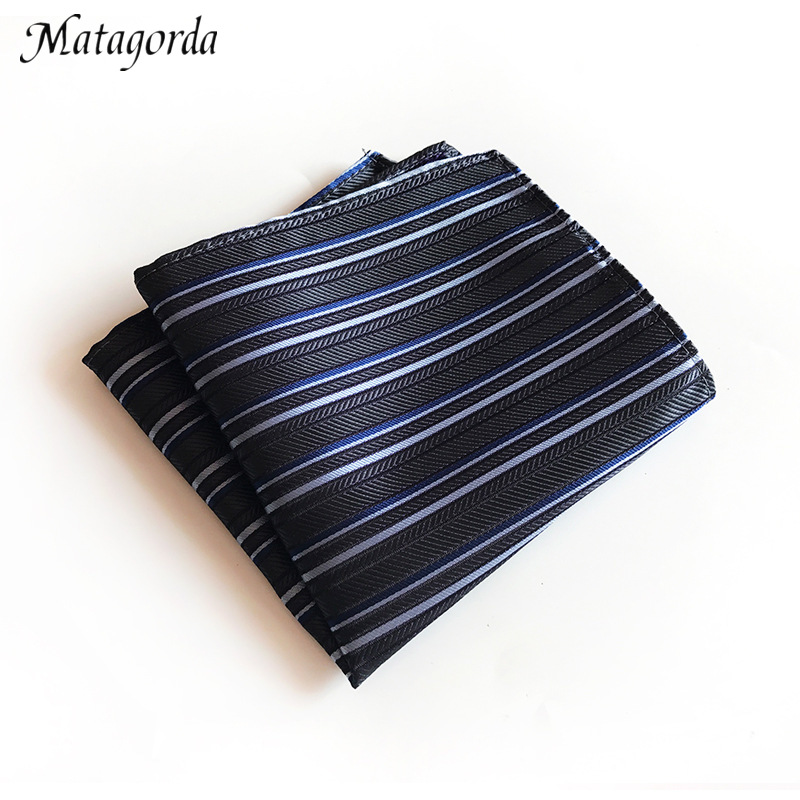 Luxury Brand Man Hanky 25x25CM Pocket Towel Stripe Pocket Squared Handkerchief Business Small Square Scarf Ascot Tie Accessory
