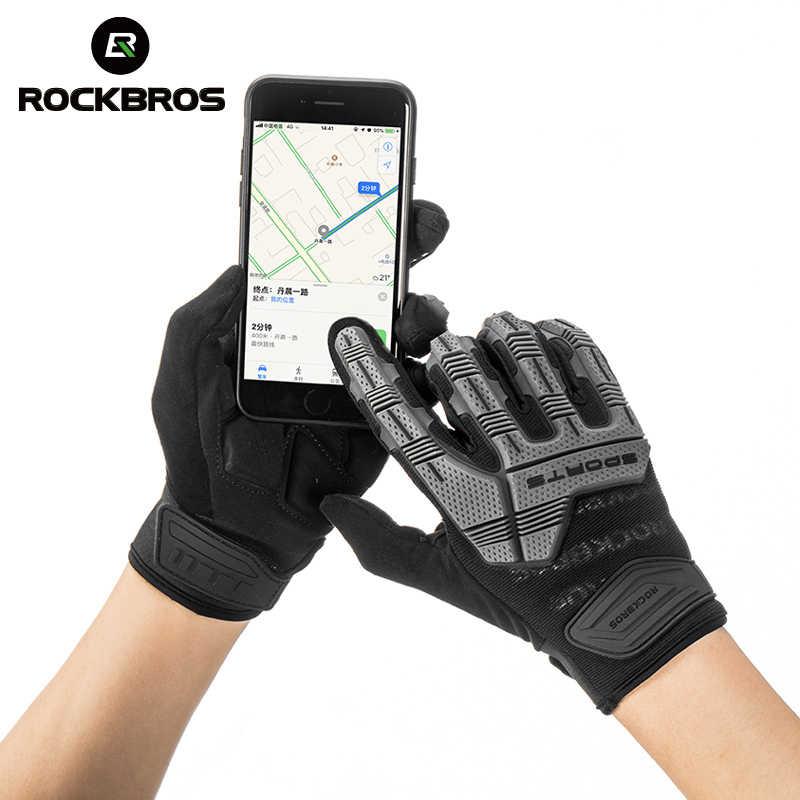 Full Finger Cycling Gloves Gel Bike Sport Motorcycle Mountain Gloves Touchscreen
