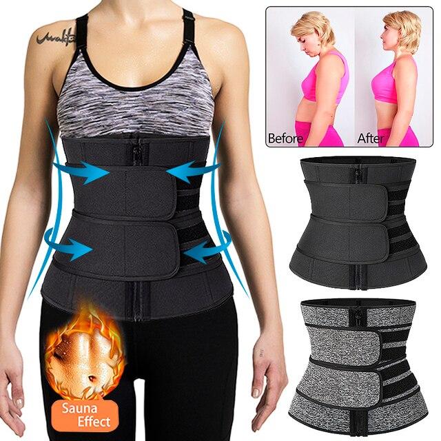 Steel Boned Waist Corset Trainer Slimming Belt Sauna Sweat Sport Girdles Modeladora Women Shaper Burning Fat Workout Trimmer