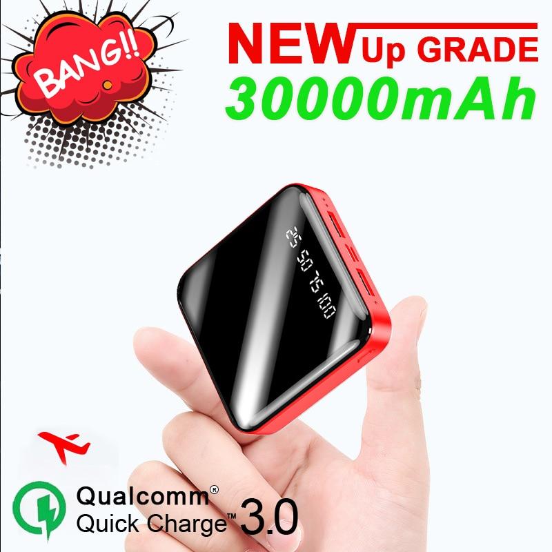 Chargeur portatif de banque de puissance de 30000MAh Port extérieur de la banque 2USB de secours de grande capacité pour l'iphone de Samsung Xiaomi
