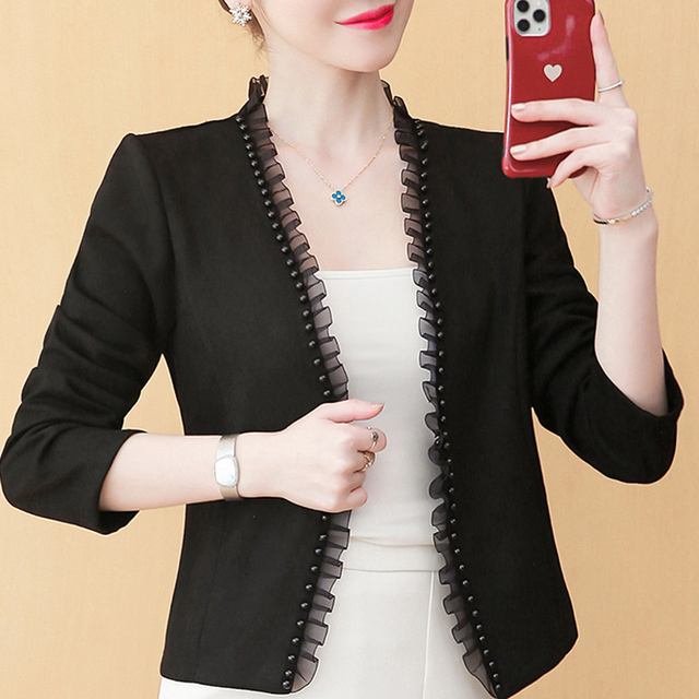 Long Sleeve Jacket Women Jackets For Women 2021 Beading Outwear Woman Jacket Cardigan Coat Women Autumn Winter Women Jacket D540 1