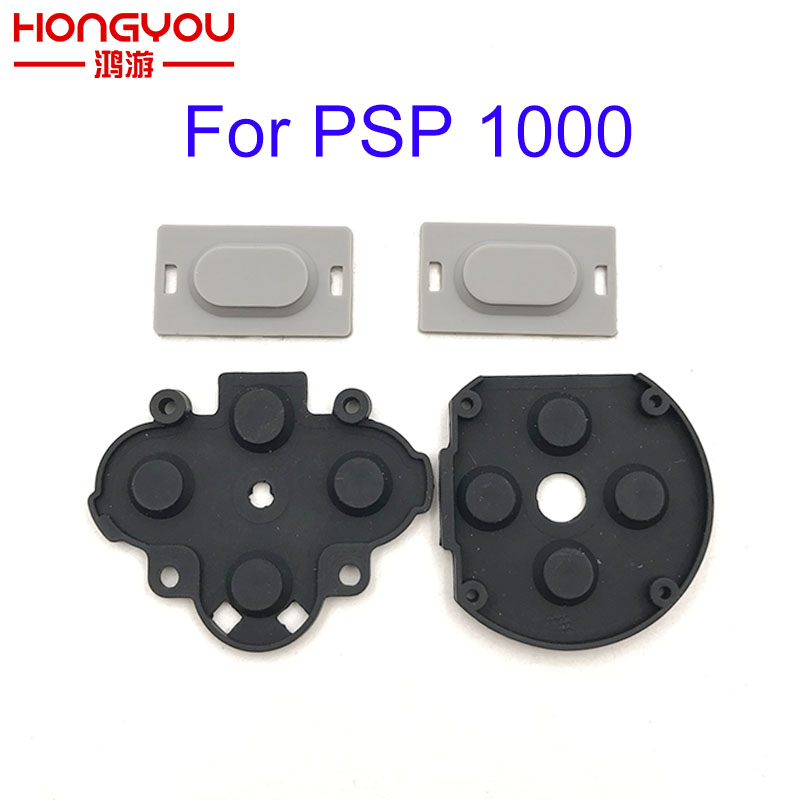 Game Console Replacement For Sony PSP 1000 / PSP FAT D Pads Rubber Conductive R L Button Repair Part