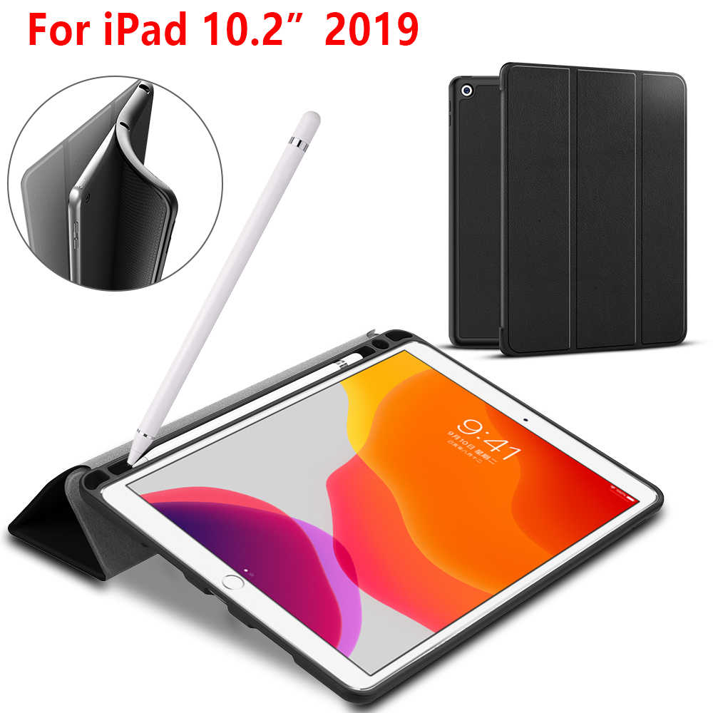 "Tablet case for ipad 10.2 2019 folio cover case for Apple ipad 7 7th 10.2"" A2200 A2198 A2197 protective case with pen holder"