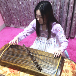 Mini Guzheng Portable Half-Zheng 21 Strings Zither Adult Children Playing Examination Finger Training Musical Instrument