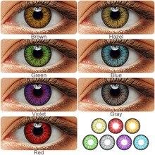 Magister colorido lentes de contato anual colorido doce cor olho lente halloween contatos cosplay lentes louco para olhos