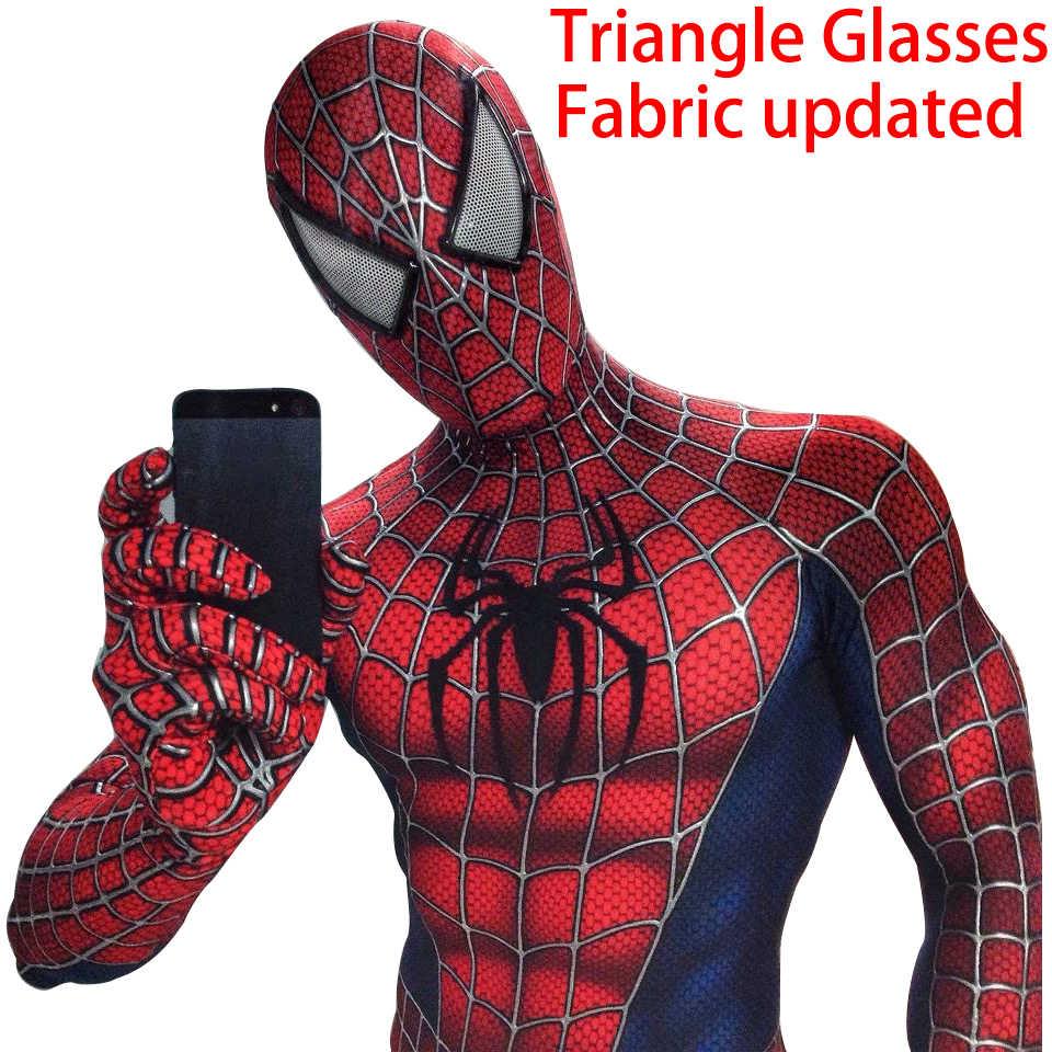Niños adultos Spider-Man 3 Raimi disfraz de Spiderman Cosplay Zentai traje de superhéroe trajes de hombre araña traje niños