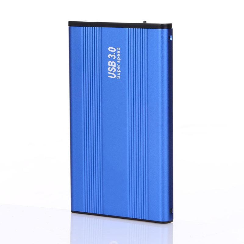 2.5inch USB 3.0 SATA III External Hard Drive HDD Hard Drive Enclosure Case HD Enclosure Super Speed For Windows Mac OS Blue