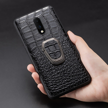 Genuine Leather Ring bracket Magnetic phone case for oneplus 7 7pro 6 6T Luxury cover for One plus 7 7t pro 5 5t case Fundas