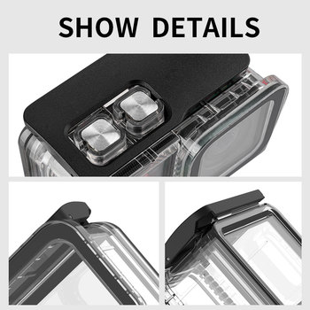 TELESIN 45M Underwater Housing Case Waterproof Case Lens Cover Protector for Insta360 ONE R 4K 360 Edition Camera Accessories 11