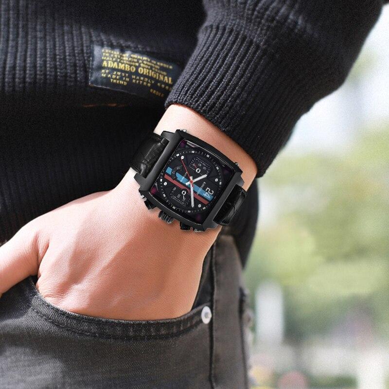 KIMSDUN Top Brand Luxury Relogio Masculino Square Mens Watch Casual Clock Sports Gift Waterproof Automatic Mechanical Watch Mens