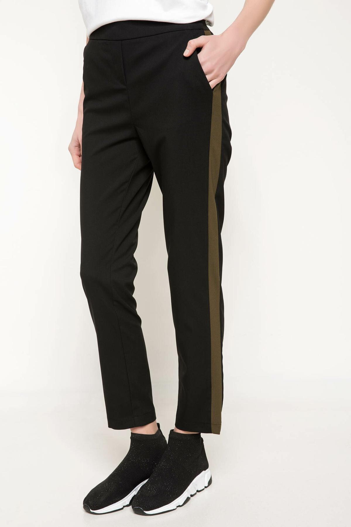 DeFacto New Female Fashion Trousers Ladies Casual Long Pants Comfort Straight Black Comfort Loose Pants - I7292AZ18SP