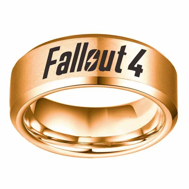 Fallout 9 Black Blue Gold Stainless Steel Rings Men Fallout 9