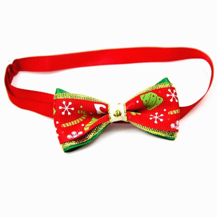 Collana Del Cane Del Gatto Dell'animale Domestico di natale Cinghia Regolabile per Collare per Gatti Cani Accessori di Natale Pet Dog Bow Tie Cucciolo Papillon forniture Per animali da compagnia