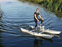 Nenhum imposto de imposto portátil bicicleta de água inflável caiaque barco esporte mar pedal água para água esporte iate para parque aquático