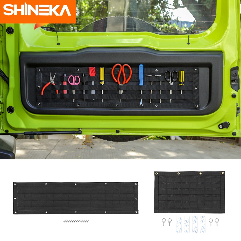 SHINEKA Stowing Tidying For Suzuki Jimny 2020 Multifunction Car Tailgate Storage Bag Tail Door Organizer For Suzuki Jimny 2019+