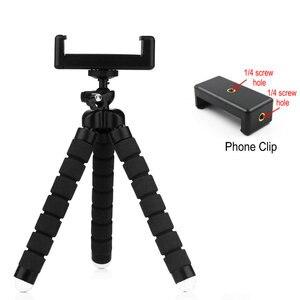 Image 2 - Flexible Mini Stativ Flexible Telefon Stativ Mit E typ Telefon Clip 1/4 schraube loch Kamera mini stativ Für Smartphone & kamera