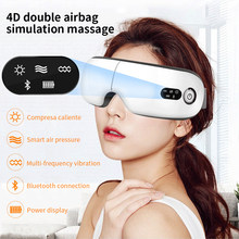 Eye Massager 9D Smart Air Pressure Vibration Eye Care Instrument Fatigue Relieve Hot Compress Bluetooth Eye Mask For Sleeping