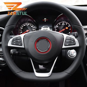 Zeratul Car Steering Wheel Circle Decoration Sequins Ring Trim for Mercedes Benz E200 E300 W212 2017 2018 Accessories image