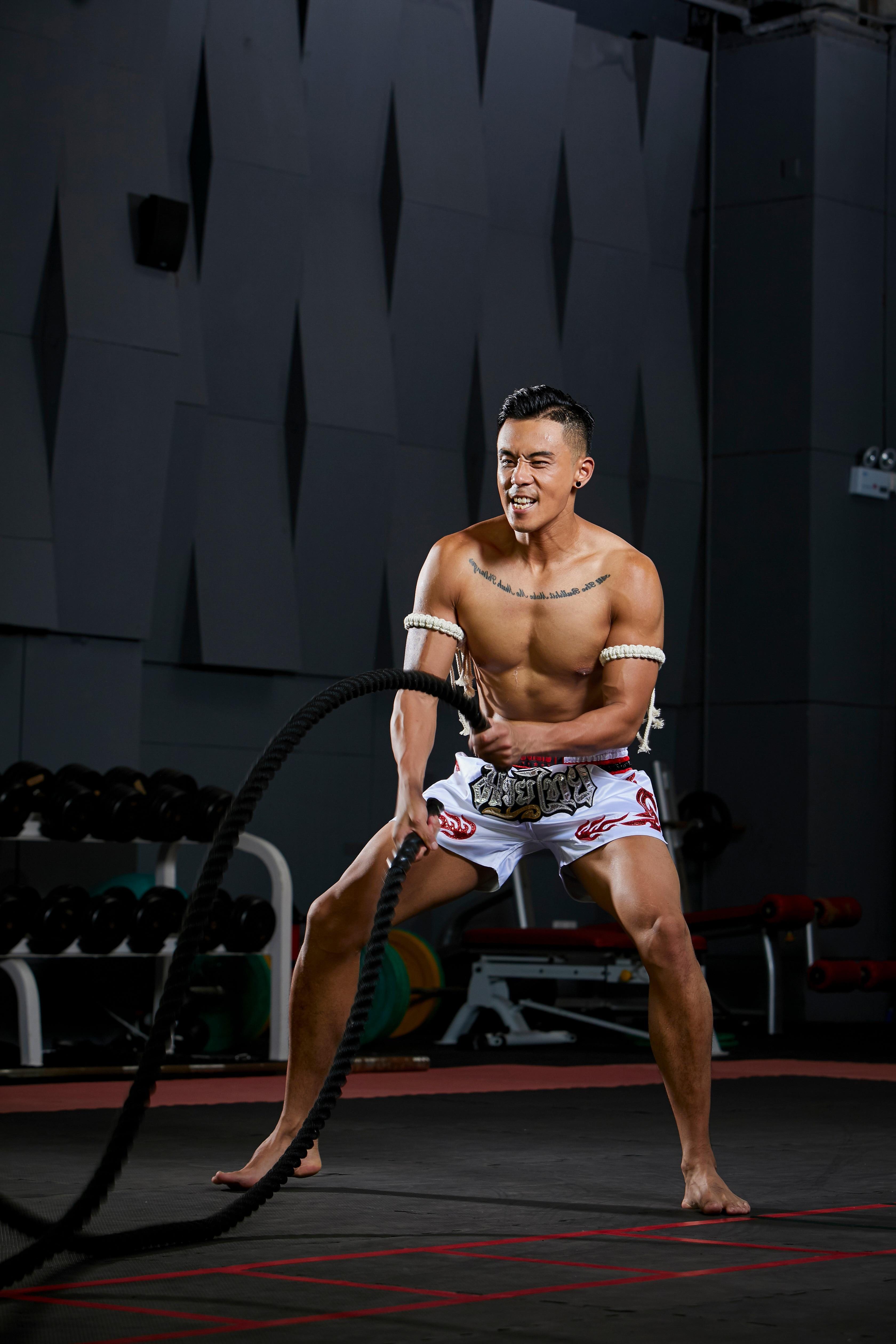 PUGILIST flame series white Thai pants mma shorts fighting shorts bodybuilding martial arts training boxing sanshou