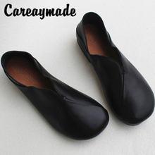 Дышащая женская обувь careaymade из натуральной кожи оригинальная