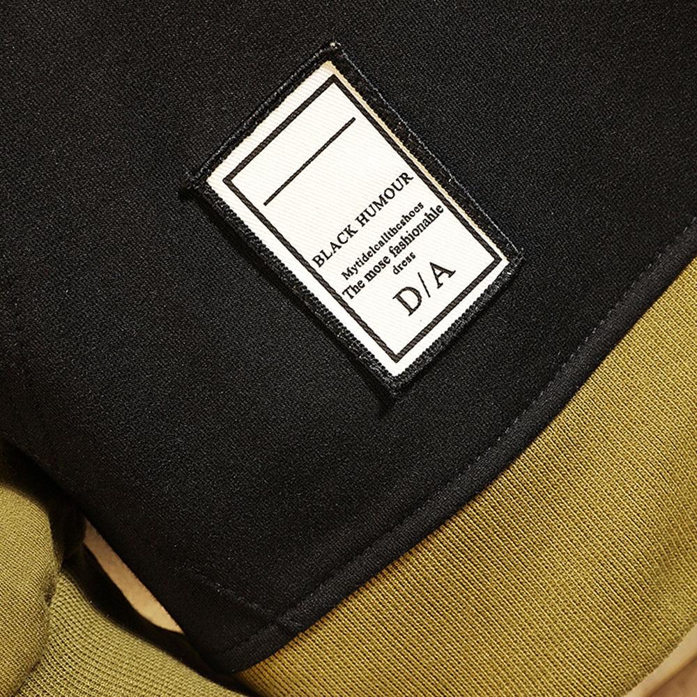 Hoodie Sweatshirt Mens Hip Hop Pullover Hoodies Streetwear Casual Fashion Clothes colorblock hoodie  cotton 4