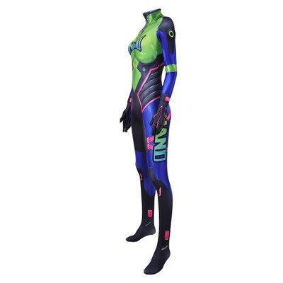 Hot Sale Nano Cola D.Va Skin Cosplay Costume 3D Print Game New DVA Nano Zentai Suit Adults Kids 2