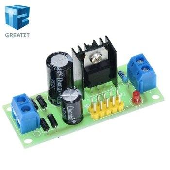 GREATZT L7805 LM7805 paso Placa de convertidor de 7,5 V-20 V a 5V regulador de módulo de fuente de alimentación Buck para Arduino