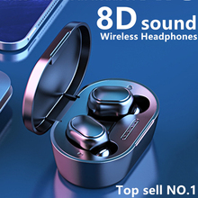 Headphones Bluetooth Wireless Earphone A7S TWS 5.0 Noise Reduction 8D Stereo Bass HD Gaming Headset LED Display For Smart Phones