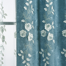 Luxury Chenille Embossed Embroidered Curtains Shade Blackout Window Curtains for Living Dining Room Bedroom luxury europe embroidered window curtains for living room bedroom blackout tulle curtains window pastoral home decor