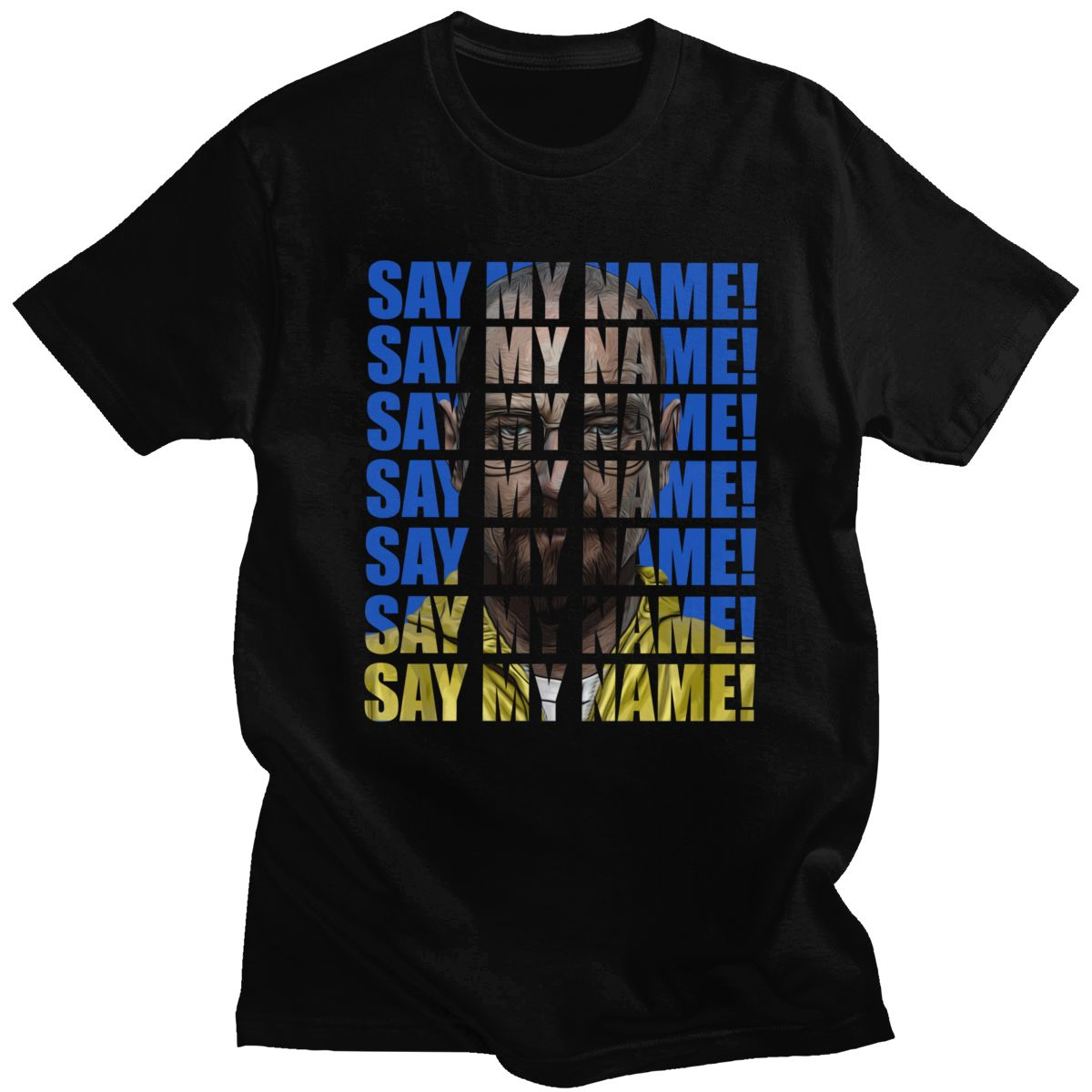 Breaking Bad Walter White T Shirt for Men Soft Cotton Say My Name Heisenberg Tshirt TV show Tee Tops Short Sleeve Summer T-shirt image