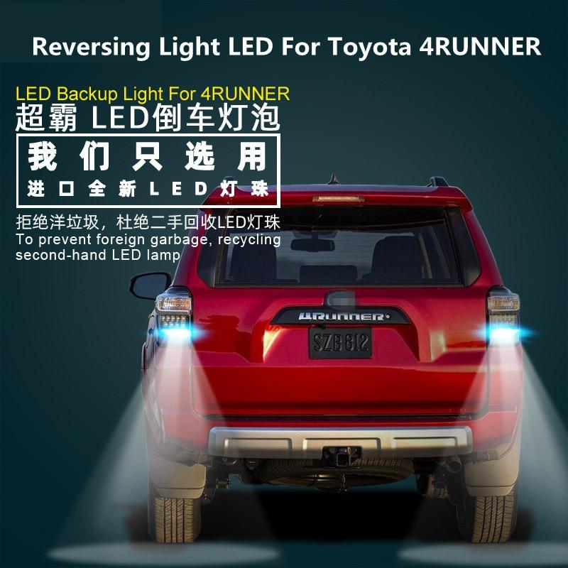 Reversing Light LED For Toyota 4RUNNER 2014-2020 Headlight Modified 12V 5300K 2PCS Back Auxiliary Light