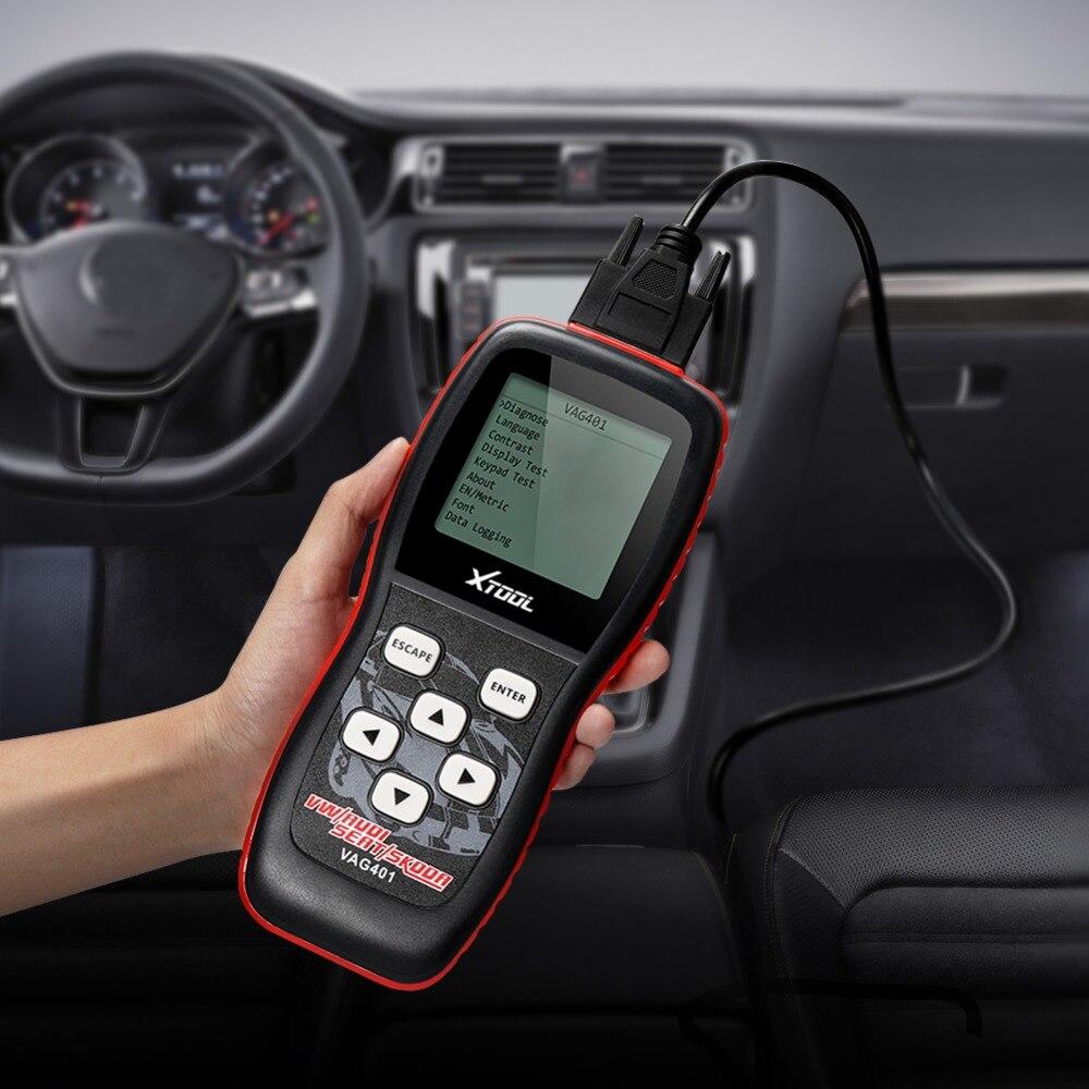 OBD2 Scanner XTOOL VAG401 Code Reader für AUDI/V-W/SITZ/SKODA Volle systeme Berufsdiagnosewerkzeug Auto scanner ABS Airbag