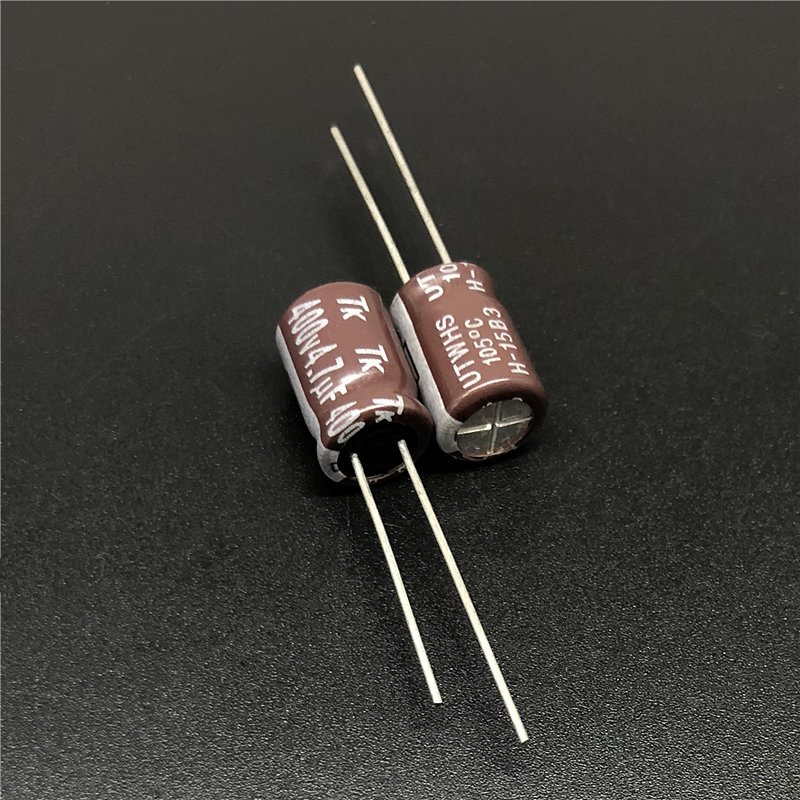 10pcs 4.7uF 400V JAPAN TK UTWHS Series 8x12mm 400V4.7uF Aluminum Electrolytic Capacitors