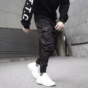 Image 4 - Joggers Mannen Zwart Tactische Techwear Broek