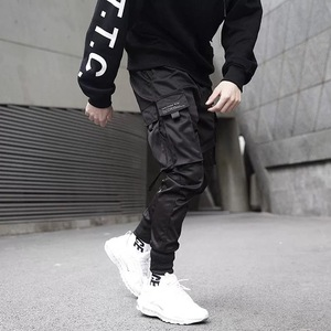 Image 4 - Pantalones tácticos para hombre, ropa para correr, color negro