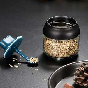 Seasoning Jar Spoon Condiment-Bottle Spice-Container Salt Oil-Honey with 260ml Corn Exquisite-Craft