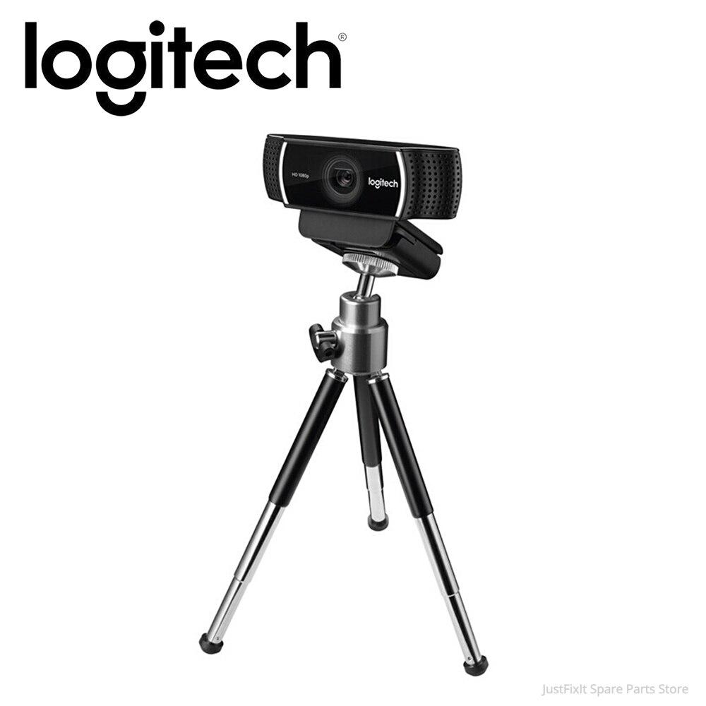 Веб-камера Logitech C922 Pro с автофокусом и микрофоном, потоковая видео веб-камера 1080P Full HD камера со штативом