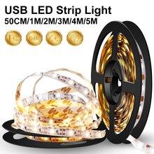 WENNI Wireless LED Strip Light USB TV Lighting Night Lamp Flexible Ribbon DC 5V Kitchen Cabinet Tape Wardrobe