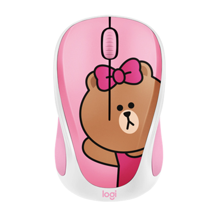 Logitech linefriends Wireless Mouse Birthday Tanabata Gift GIRL'S Cute Cartoon Mouse