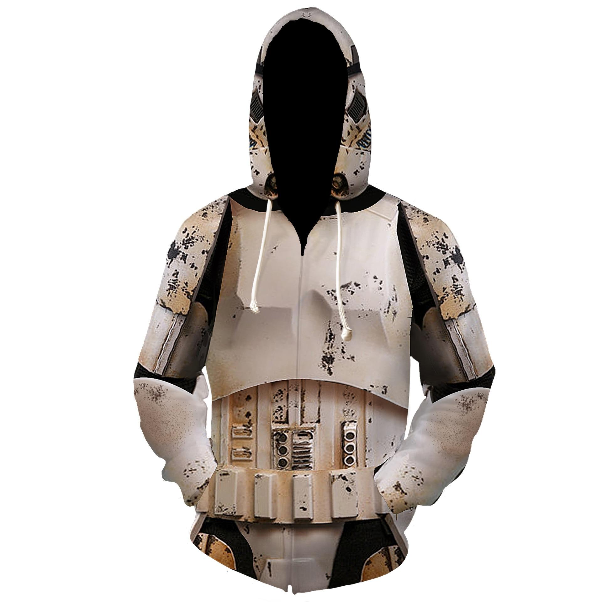 Movie Star Wars: The Rise Of Skywalker Jedi Knight Hoodies Jackets Cosplay Costumes Mandalorian 3D Printing Hoodie Sweatshirts