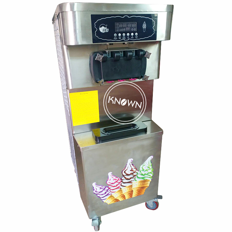 Low price commercial vertical ice cream machine soft serve mcdonald's mini soft ice cream vending machine price