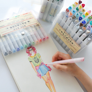 Image 1 - Pluma de doble cabeza Superior, juego suministros arte, colorido, resistente al agua, rotulador de dibujo, rotulador colorido impermeable