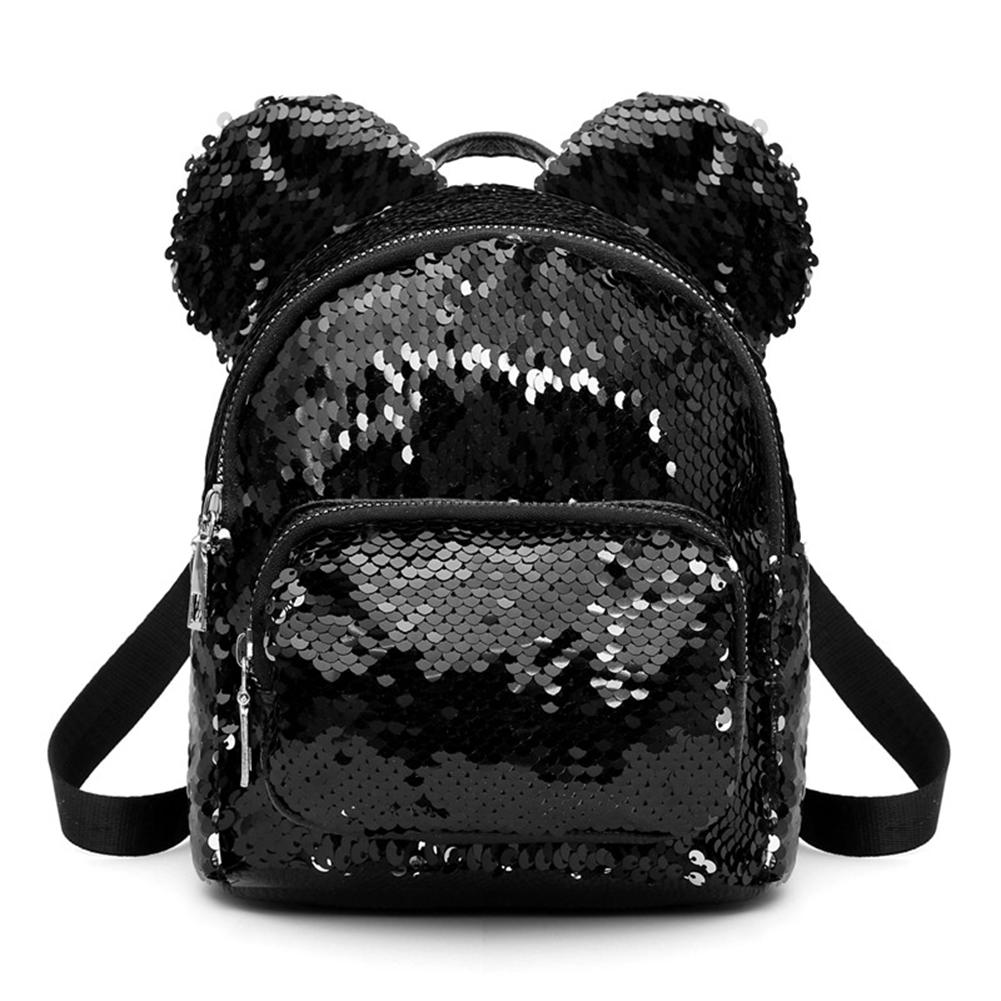 Kawaii Mouse Ears Bags Kids Fashion Mini School Bag For Women Mochila Feminina Travel Sequins Backpack Bolsas Mujer Knapsack