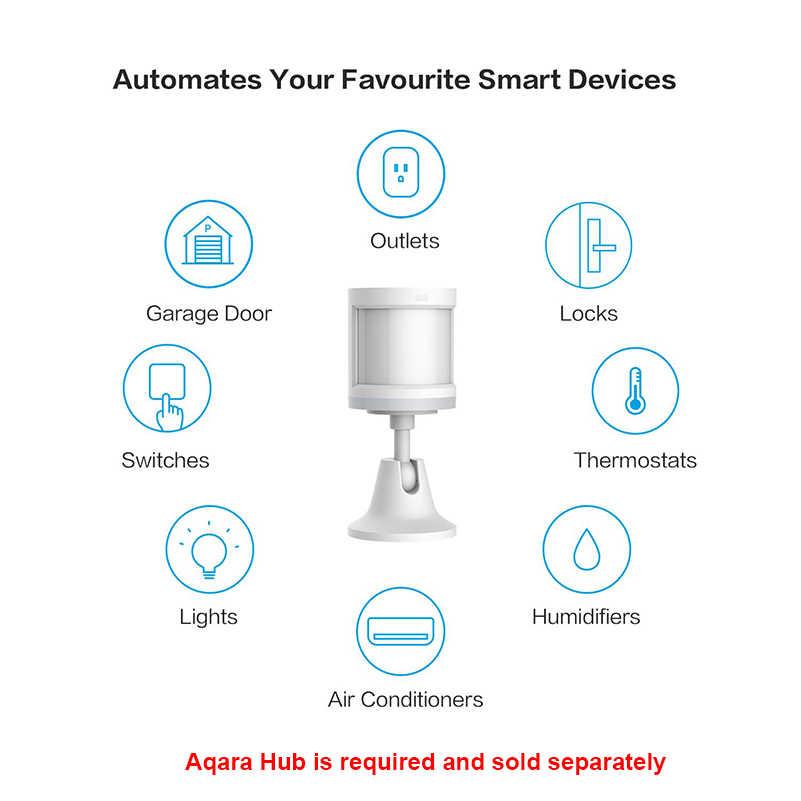 Aqara hareket sensörü insan vücudu sensörü hareket ZigBee kablosuz bağlantı Alarm sistemi ile çalışmak Apple Homekit/ xiaomi mi ev